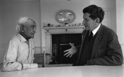 "David Bohm and J. Krishnamurti Converse, ""Is There an Action not Touched by Thought?""  by Carolyn Thompson"